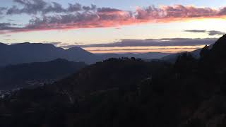 Time lapse Pithoragarh sunrise and sunset video