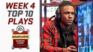 Top 10 Plays of Week 4 | Madden Ultimate League | Madden NFL 18