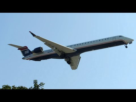 US Airways Express (Mesa) Bombardier CRJ-900 [N247LR] landing in LAX