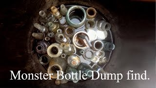 MASSIVE BOTTLE DUMP. Mudlarking adventures.
