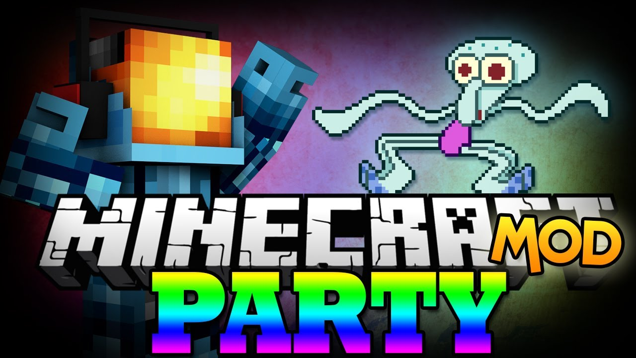 Minecraft mod the party mod squidward on my dance for 1234 lets on the dance floor