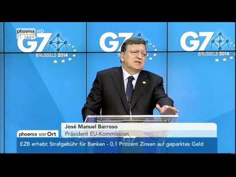 Abschluss G7-Gipfel: José Manuel Barroso am 05.06.2014