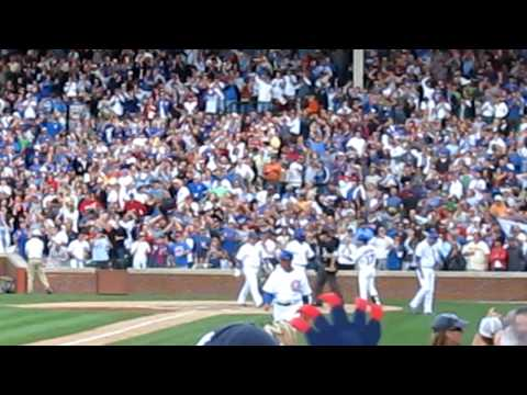 Fans Film of Jake Fox's First Grand Slam Cubs vs. Mets 8/31/09 Video