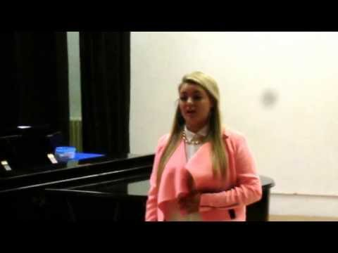 Holly's singing concert in aid of Cancer Research (Cheryl Brooks, singing teacher)