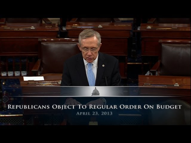 Republicans Object To Regular Order On Budget