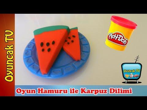 Play Doh Oyun Hamuru ile Karpuz Dilimi Yapımı