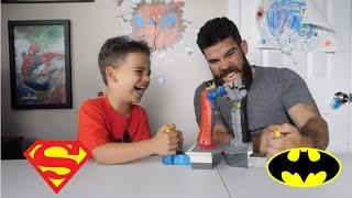 Batman Vs Superman Toys Dawn Of Justice Boxing Match! Dad vs. Son!