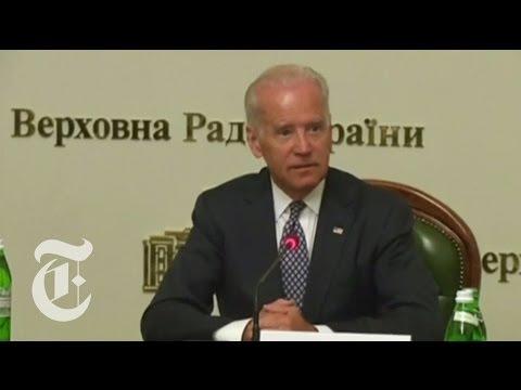 In Ukraine, Joe Biden Warns of 'Cancer of Corruption' | The New York Times