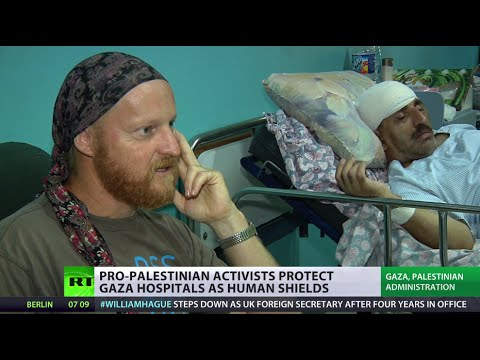 Gaza human shields: Foreigners protect hospitals from IDF airstrikes