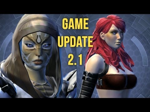 SWTOR Game Update 2.1 Customization - First Look at the Appearance Designer and Species Change