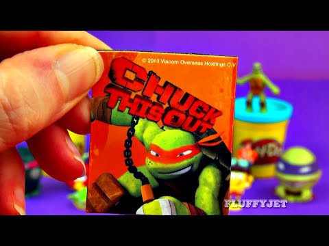 Teenage Mutant Ninja Turtles Play-Doh Surprise Eggs TMNT Cars Pokemon Peppa Pig Toy Story FluffyJet