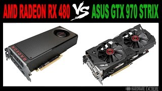 AMD Radeon RX 480 vs Asus GeForce GTX 970 Strix - Full HD e 4K