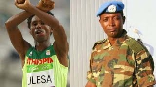 Feyisa Lelisa and Col. Demeke Zewdu were selected as ESAT's persons of the year 2016