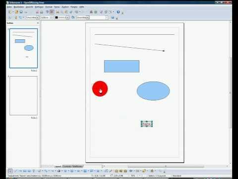 Openoffice Draw Grundlagen Objekte Einf Gen Youtube