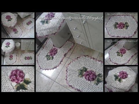 Flor para tapetes em crochês - Artesanatos em Crochês Vanda Music Videos