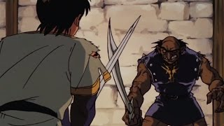 An epic battle in Lodoss-tou Senki
