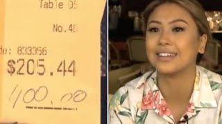 A Couple Left This Waitress A $400 Tip  But What They Did When They Returned Blew Her Away