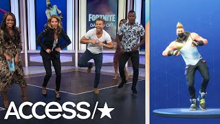 Derek Hough Absolutely Nails The 'Fortnite' Dance Challenge | Access