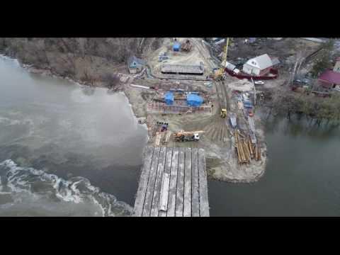 Ремонт моста впечатляет своим размахом ВИДЕО С ВОЗДУХА
