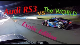 AUDI RS3 vs THE WORLD -- EXOTIC CAR EDITON -- Roll Racing America