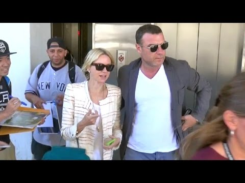 Naomi Watts And Liev Schreiber Arrive Home For The Emmys