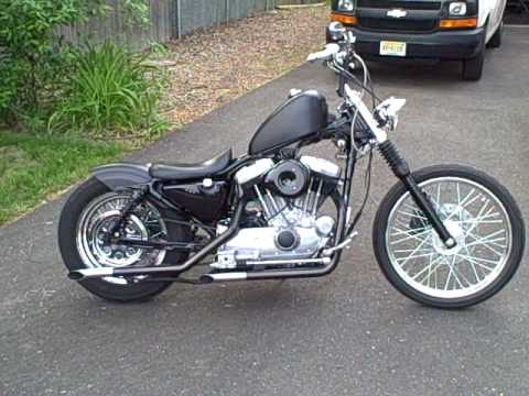 Harley davidson sportster chopper-bobber Video