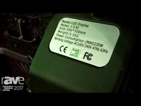 ISE 2017: Shenzhen Gloshine Exhibits V Series LED Display