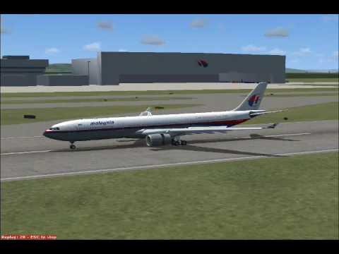 Flight Simulator:X Malaysia Airlines Airbus A330 Landing In Kuala Lumpur Intl