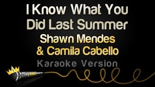 Download Lagu Shawn Mendes & Camila Cabello - I Know What You Did Last Summer (Karaoke Version) Gratis STAFABAND