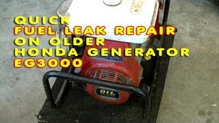 Fuel Leak Repair On Older Honda Generator GE3000