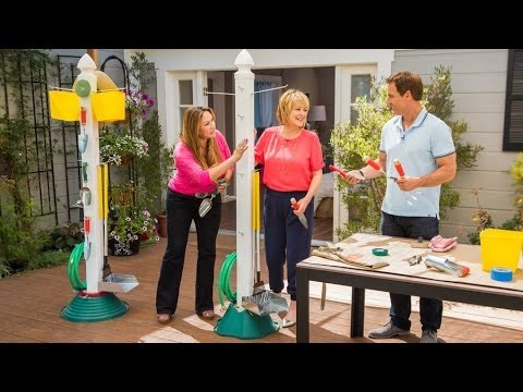 Home & Family - How to Make a Simple Garden Tool Organizer