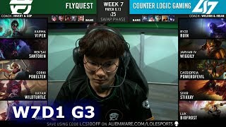 CLG vs FLY | Week 7 Day 1 S9 LCS Summer 2019 | CLG vs FlyQuest W7D1