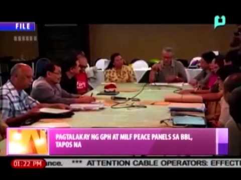 [News@1] Pagtalakay ng GPH at MILF peace panels sa BBL, tapos na [08|16|14]