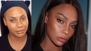 NATURAL NO MAKEUP, MAKEUP ..LETS TRICK EM | SONJDRADELUXE
