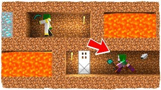 THE ANTHILL IS FILLED WITH LAVA! THE BATTLE OF EXCAVATIONS IN MINECRAFT # 4