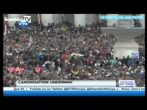 History is being made at the Vatican in Rome with the canonization of two popes