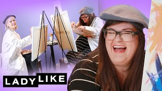 Kristin And Devin Paint Portraits Of Each Other • Ladylike