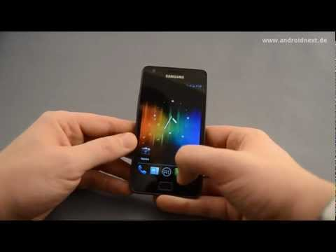 Samsung Galaxy S2 (SGS2) - Ice Cream Sandwich / CyanogenMod 9 Hands-On (ENG) - androidnext.de