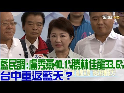 台灣-少康戰情室-20181015 2/2 國民黨民調:盧秀燕40.1%勝林佳龍33.6%!台中重返藍天?