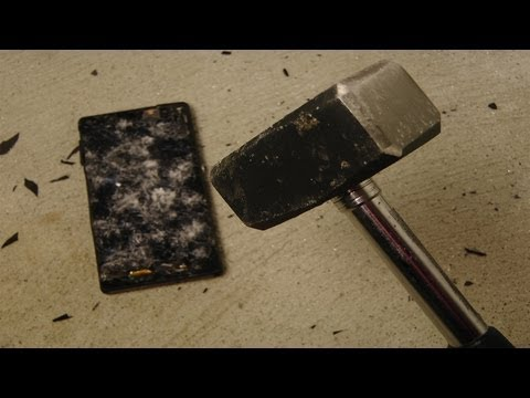 Sony Xperia Z Review - Hammer Drop Test