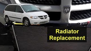 2005 2006 2007 radiator replacement dodge grand caravan removal install remove repair fix. Black Bedroom Furniture Sets. Home Design Ideas