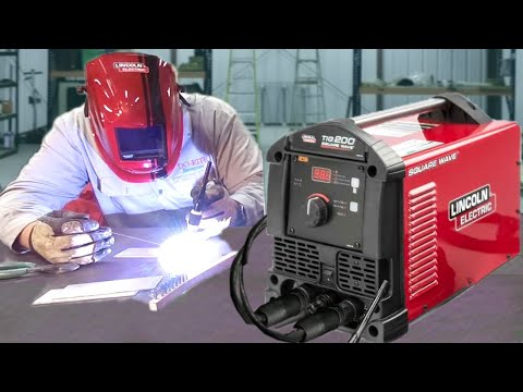 Lincoln Electric Square Wave TIG 200 welding machine. unboxing. setup and review