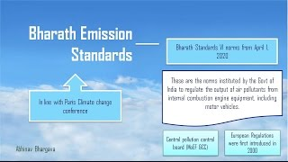 What is Bharat Emission Standards ?  - For UPSC/IAS Mains Exam