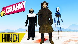 Kiya Ye SCARY NUN, HUNTER AUR SCARY CREEPER Hai??? | GTA 5 | #Granny #5