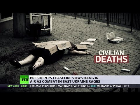 E. Ukraine combat rages as Pres Poroshenko's ceasefire vow hangs in air