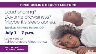 BCH Lecture - Sleep Apnea