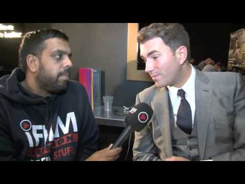 EDDIE HEARN TALKS FROCH v KESSLER, GROVES, BROOK, BARKER, PURDY & TEAM KHAN.