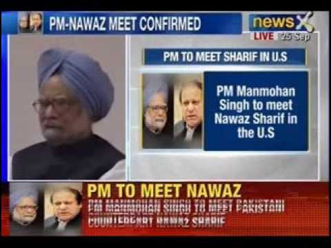 Breaking News : PM Manmohan Singh to meet Nawaz Sharif in U.S on 29th September