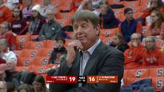 2019.02.13 #12 NC State Wolfpack at #16 Syracuse Orange Women's Basketball