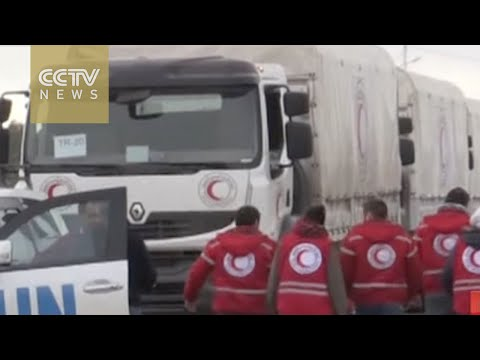 UN aid convoy reaches besieged Syrian town of Madaya